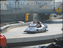 go-cart riders at Seaside Heights